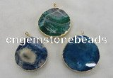 NGP2548 48*50mm - 55*55mm freeform agate gemstone pendants