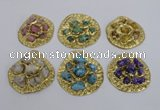 NGP2643 30*35mm - 40*55mm freeform druzy agate pendants wholesale