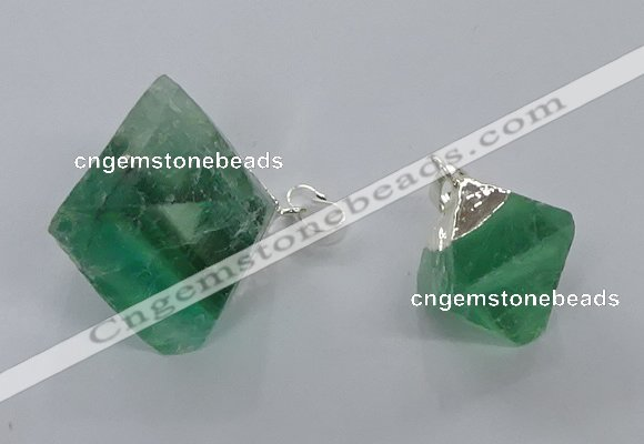 NGP3049 15*20mm – 22*30mm freeform fluorite pendants wholesale