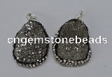 NGP3096 25*35mm – 30*40mm freeform druzy agate pendants