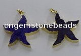 NGP3522 48*50mm starfish fossil coral pendants wholesale