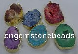NGP3762 30*40mm - 40*50mm freeform druzy agate pendants