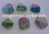 NGP4045 20*30mm - 30*40mm freeform druzy agate pendants