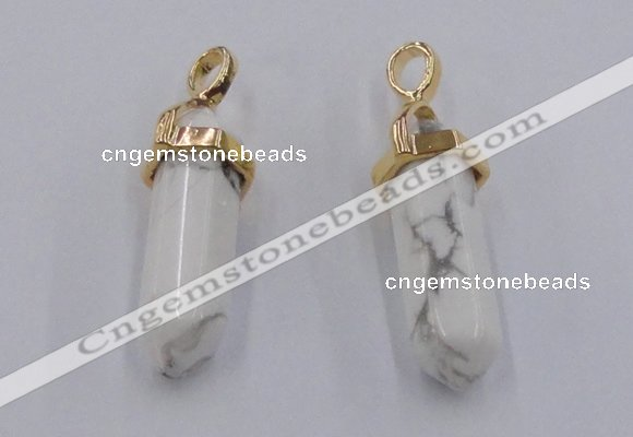 NGP5030 8*30mm sticks white howlite gemstone pendants wholesale