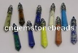 NGP5433 10*65mm sticks mixed gemstone pendants wholesale