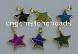 NGP6273 20mm star agate gemstone pendants wholesale