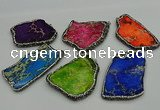 NGP7231 30*50mm - 40*60mm freeform sea sediment jasper pendants