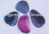 NGP876 5PCS 40-45mm*50-70mm freeform agate gemstone pendants