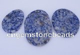 NGP945 5PCS 30-40mm*40-60mm freeform blue spot gemstone pendants