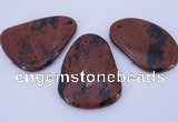 NGP957 5PCS 35-45mm*50-65mm freeform mahogany obsidian gemstone pendants