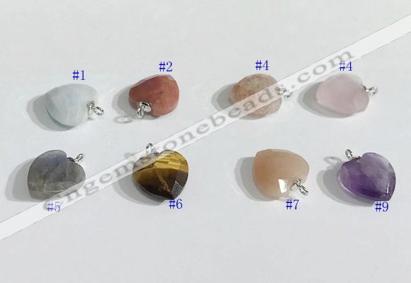 NGP9707 11mm faceted star-shaped  mixed gemstone pendants wholesale