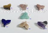 NGP9740 14*14mm fishtail-shaped  mixed gemstone pendants wholesale