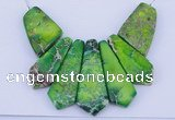NGP99 Dyed imperial jasper gemstone pendants set jewelry wholesale