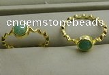 NGR1059 4mm coin amazonite gemstone rings wholesale